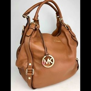 Michael Kors cognac leather shoulder bag